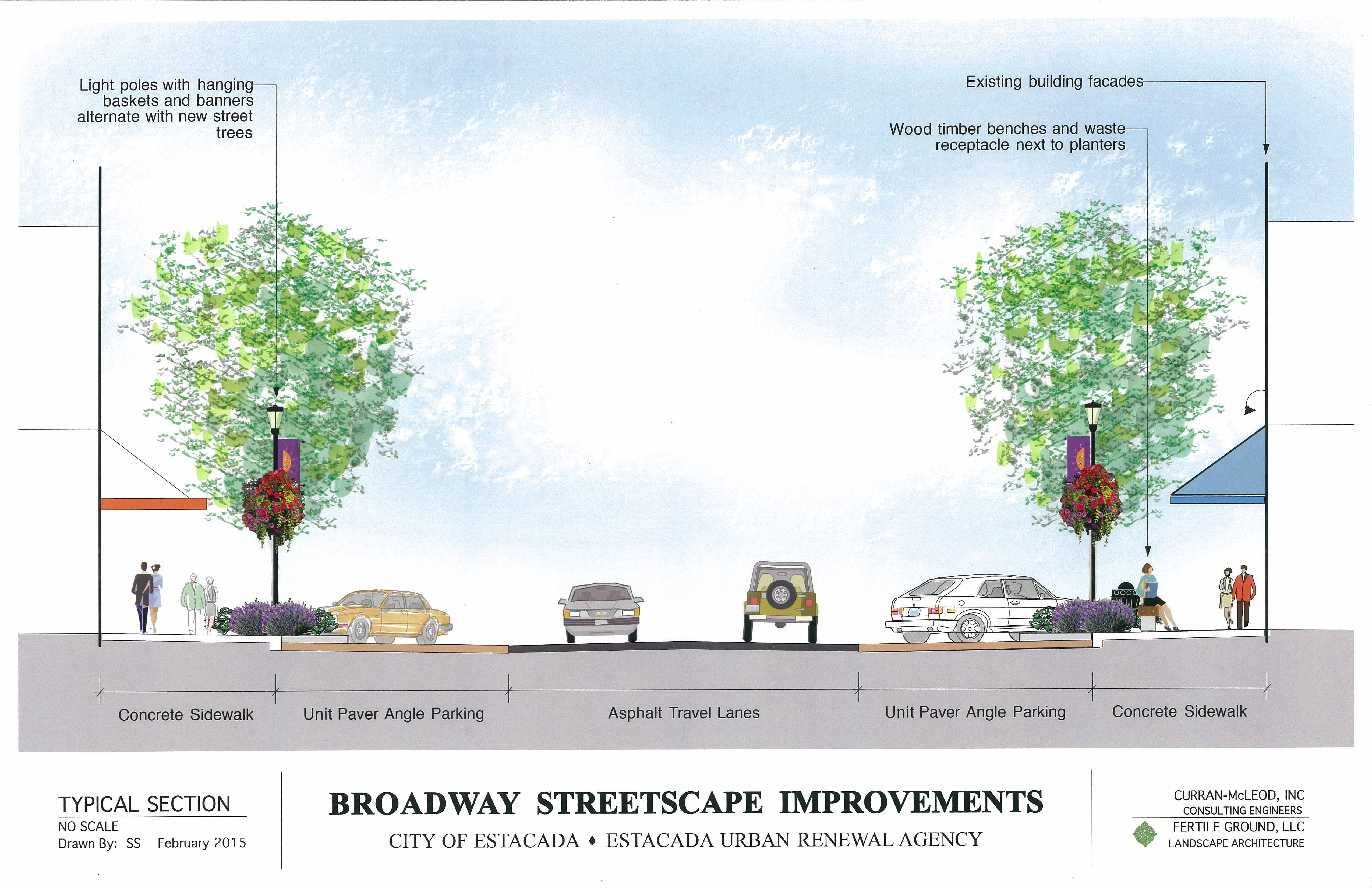 Broadway Section Rendering